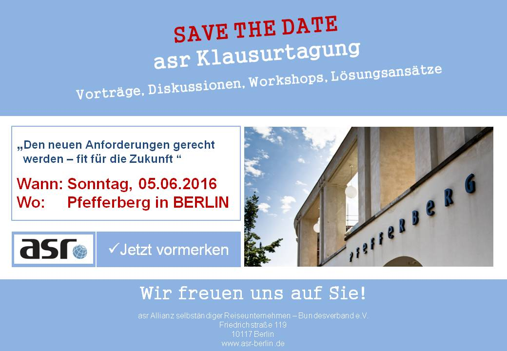 Save the Date Klausurtagung