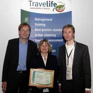 Auszeichnung Travellife Koordinator Gabriele Baumgarten-Heinke (asr)