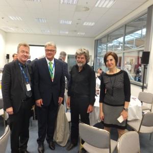 V.l.n.r.: Jochen Szech (asr Präsident), Richard Eberhardt (Reisebüro Eberhardt GmbH), Reinhold Messner, Magdalena Beckh Widmanstetter (Konsulin Der Republik Argentinien)